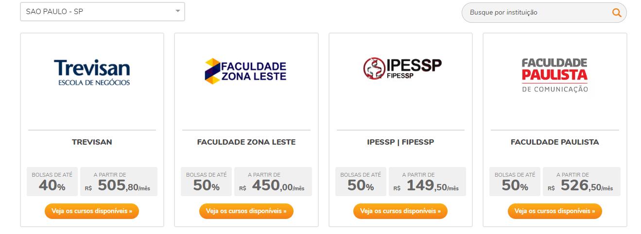 Em Quais Faculdades Consigo Bolsa Pelo Educa Mais Brasil